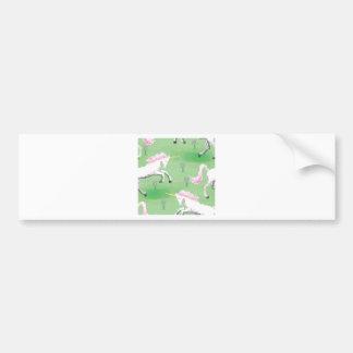 unicornios in the fields of pixel bumper sticker