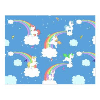 Unicornios juguetones tarjetas postales