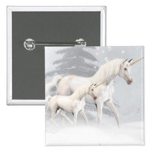 Unicornios lindos en la nieve 1 pin
