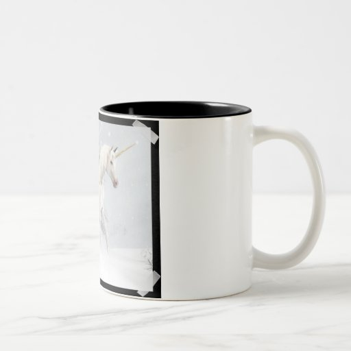 Unicornios lindos en la nieve 1 tazas de café