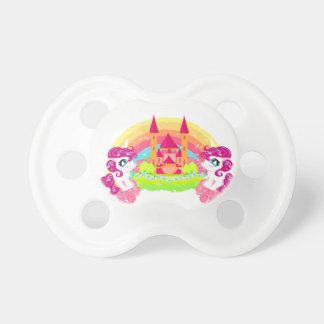 unicornios lindos simulados chupete de bebe