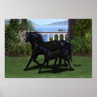 Unicornios: Madre y niño Póster