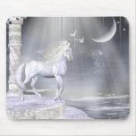 Unicornios Mousepad de Fae de los ángeles Alfombrillas De Ratón