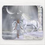 Unicornios Mousepad de Fae de los ángeles Alfombrillas De Ratones