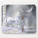 Unicornios Mousepad de Fae de los ángeles Tapete De Ratones