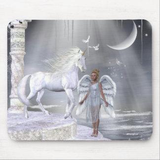 Unicornios Mousepad de Fae de los ángeles
