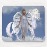 Unicornios Mousepad de Fae de los ángeles Alfombrilla De Ratón
