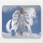Unicornios Mousepad de Fae de los ángeles Alfombrillas De Raton