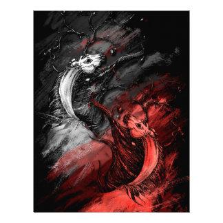 Unicornios rojos y blancos membrete