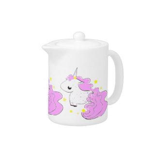 Unicornios rosados del dibujo animado del color co