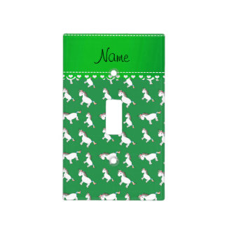 Unicornios verdes conocidos personalizados del tapa para interruptor
