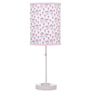 Unicorns And Pink Flowers Desk Lamp