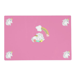 Unicorns and Rainbow Placemat