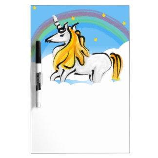 Unicorns and Rainbows Dry Erase Board