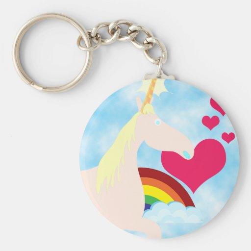 Unicorns and Rainbows Keychains