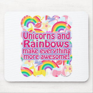 Unicorns and Rainbows Mouse Pad