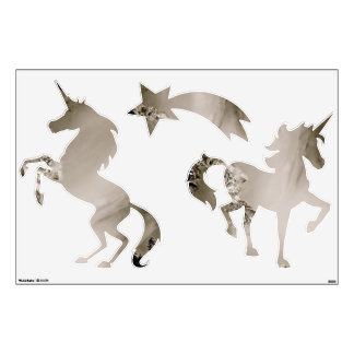 UNICORNS AND SHOOTING STAR WALL STICKER