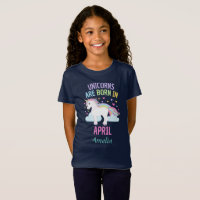 Unicorns are Born In April Personalized T-Shirt