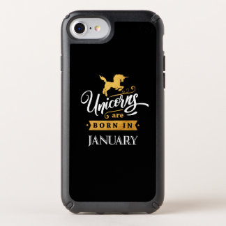 Unicorns are born in January - Calligraphy Art Speck iPhone Case