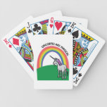 Unicorns are Magical Bicycle Poker Cards
