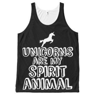 Unicorns are my spirit animal All-Over-Print tank top