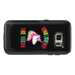 Unicorns Are Vegan, Funny Vegan, Cute Vegetarian OtterBox Samsung Galaxy S7 Case