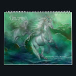 """Unicorns Art Calendar<br><div class=""""desc"""">Enjoy this unique and enchanting selection of Unicorns every day of the year,  and when the year is over,  pages are suitable for framing. From the Fantasy Collection of art by Carol Cavalaris,  all images are also available as fine art posters or prints as well as on other products.</div>"""
