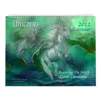Unicorns Art Calendar 2012