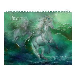 Unicorns Art Calendar 2013