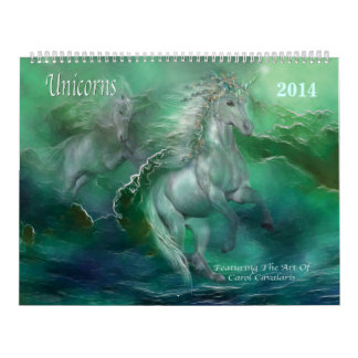Unicorns Art Calendar 2014