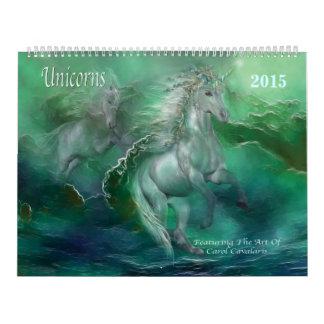 Unicorns Art Calendar 2015