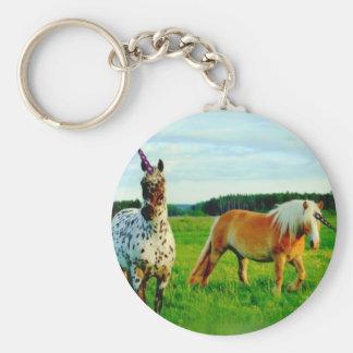Unicorns Basic Round Button Keychain