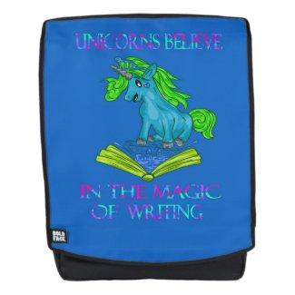 Unicorns Believe In The Magic of Writing Backpack
