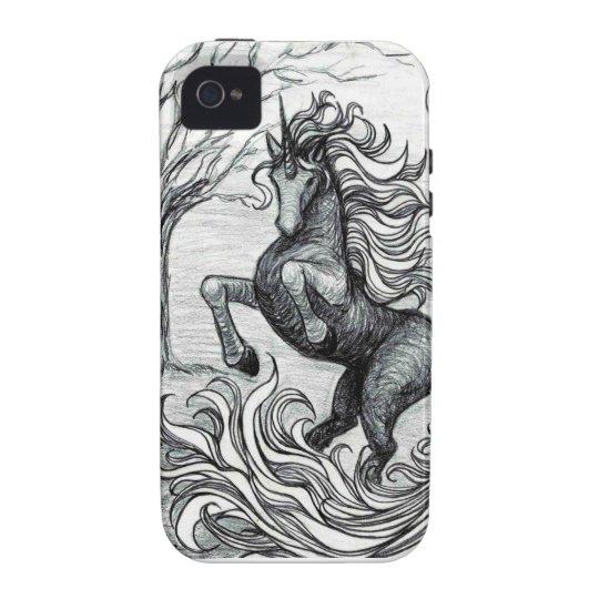 Unicorns Black Unicorn Black & White Drawing Case For The iPhone 4