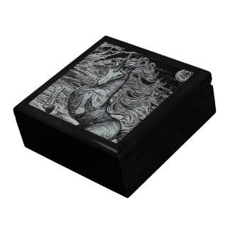 Unicorns Black Unicorn Black & White Drawing Gift Box