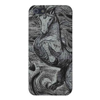 Unicorns Black Unicorn Black & White Drawing iPhone 5 Cases