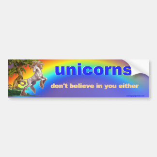 unicorns bumper sticker