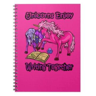Unicorns Enjoy Writing Together Notebook