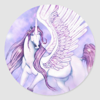 Unicorns Flight of Fancy Classic Round Sticker