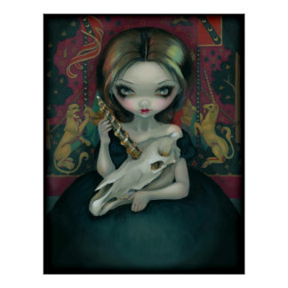 Unicorn's Ghost ART PRINT gothic medieval tapestry