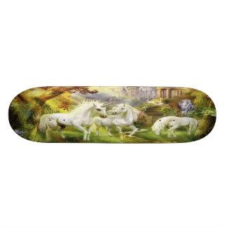 Unicorns In Field Skate Board Deck