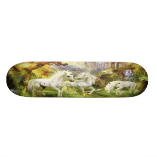 Unicorns In Field Skateboard Deck