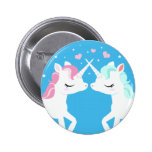 Unicorns in love Button
