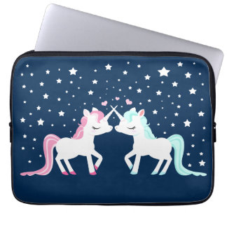 Unicorns in Love Laptop Computer Sleeves