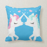 Unicorns in love pillow