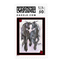 Unicorns in Love Postage Stamps