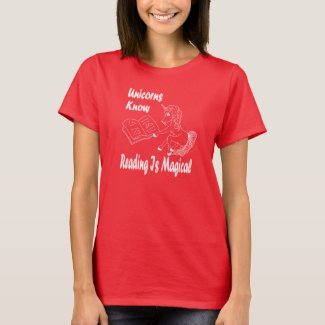 Unicorns Know Reading Is Magical - Basic Tee - WL