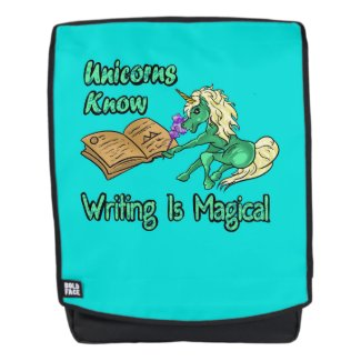 Unicorns Know Writing Is Magical Backpack