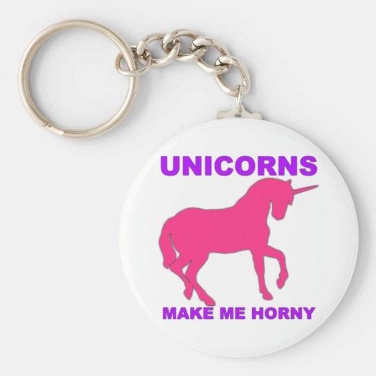 unicorns make me horny keychain