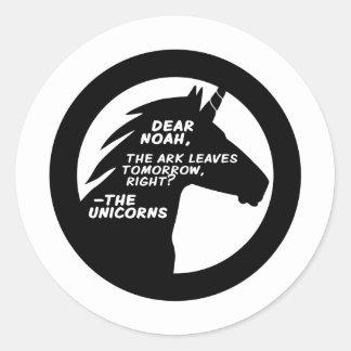 Unicorns Missed the Ark Sticker